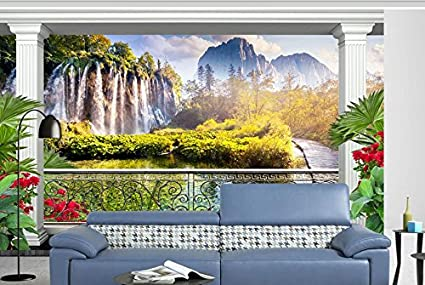 Cascata Da Giardino Moderna : Weaeo custom d pitture murali carta da parati per soggiorno