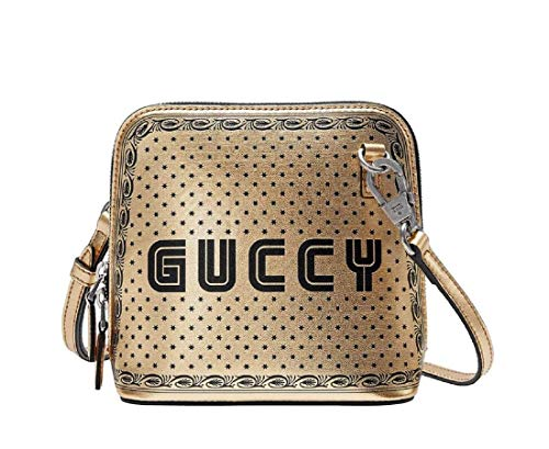 Gucci Women's Gold Guccy Sega Script Dome Mini Crossbody Bag 511189 8275