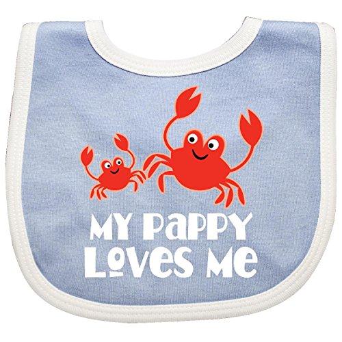 Crab Baby Bib (Inktastic - My Pappy Loves Me Grandchild Beach Crab Baby Bib Blue/White)