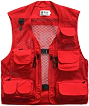 Men Mesh Breathable Multi-Pocket Vest Outdoor Travelers Fly Fishing Photography