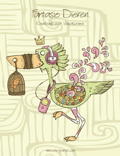 Kleurplaten Fantasie Volwassenen.Amazon Com Fantasie Dieren Kleurboek Voor Volwassenen 1 Volume 1