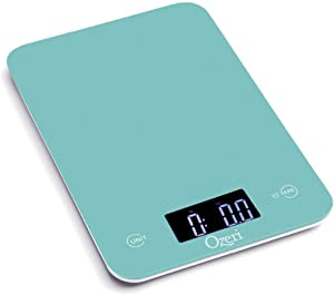 Ozeri Touch Professional Tempered Glass Digital Kitchen Scale, Teal Blue