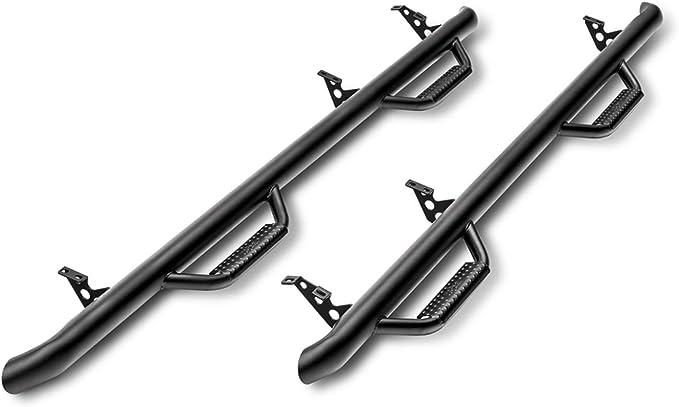 N-FAB T0678CC Gloss Black Nerf Step; Cab Length Toyota Tacoma Double Cab All Beds 05-15