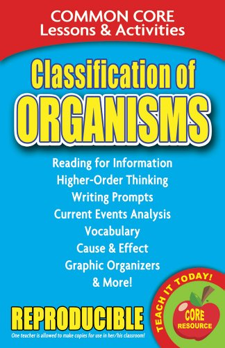 Classification of Organisms - Common Core Lessons and Activities