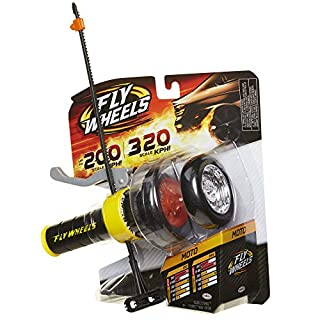 Fly Wheels Launcher + 2 Moto Wheels - Rip it up to 200 Scale MPH, Fast Speed, Amazing Stunts & Jumps up to 30 Feet All Terrain Action: Dirt, Mud, Water, Snow- One of The Hottest Wheels Around