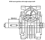 NMRV-030 Worm Gear Speed Reducer Ratio 80:1