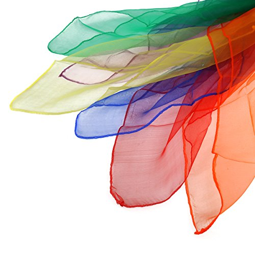433e3723196 pas cher NUOLUX Multi-Color Foulards Ourlé Jonglage Foulards Danse 12pcs  (couleur assortie)