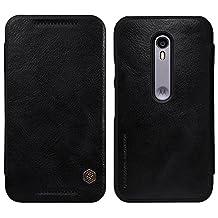 Nillkin MOTO G3 (3rd Gen) XT1550 Qin Leather Case - Retail Packaging - Black