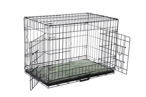 Confidence Pet 2 Door Dog Cage Crate With Bed - Medium