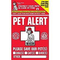 Adhesivo de seguridad para mascotas 234001 Calcomanía con ventana estática de 2 cuentas para mascotas