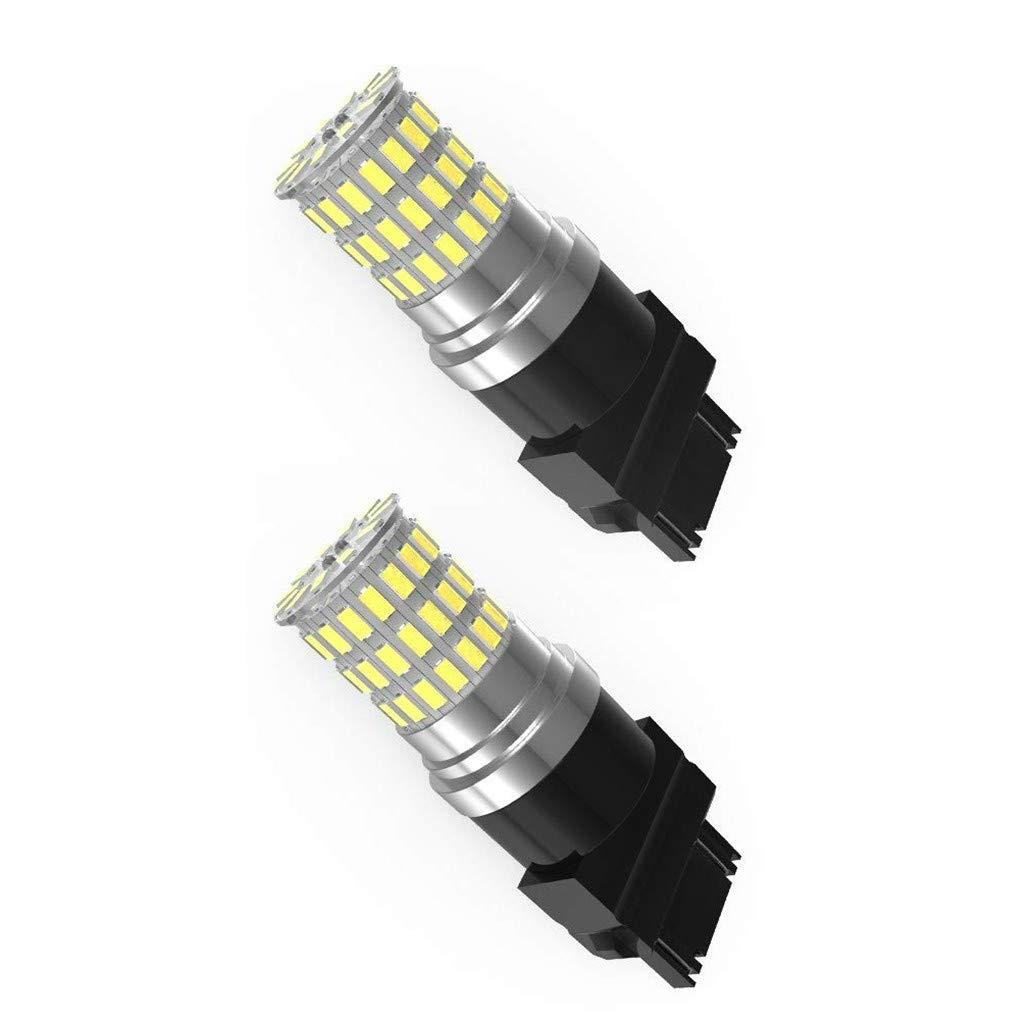 Bobury 2PCS 3157 3014 66smd White Light Car Parking Light Auto Tail Driving LED Running Backup Reverse Bulb