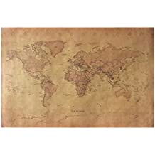 CHIMAGE Choose size: The old World Map huge large Vintage Style Retro Paper Poster Home wall decoration