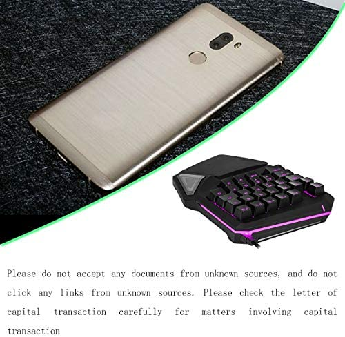 Sanzenling T9Pro Clavier de Jeu à Sensation mécanique Filaire 28 Touches LED rétro-éclairé USB Clavier à Une Main Ergonomique pour PC Tablette de Bureau