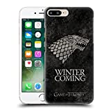 Official HBO Game Of Thrones Stark Dark Distressed Sigils Hard Back Case for Apple iPhone 7 Plus