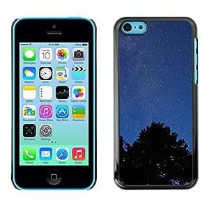 El cielo y el bosque - Metal de aluminio y de plástico duro Caja del teléfono - Negro - iPhone 5C