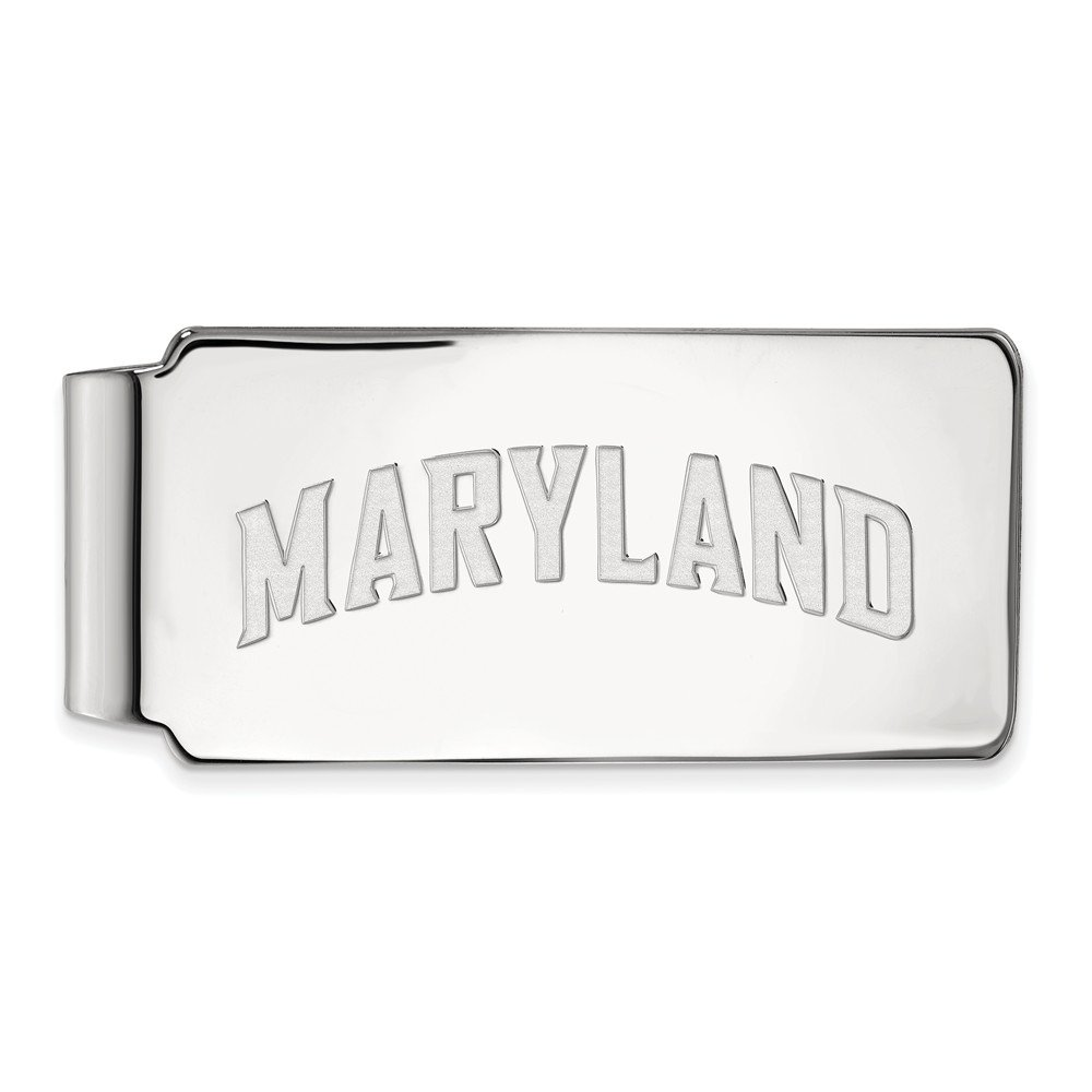 55mm x 26mm Jewel Tie 925 Sterling Silver Maryland Money Clip