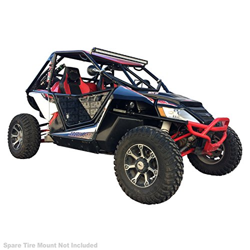 """50 Caliber Racing Roll Cage 1.75"""" Mild Steel Tubing Natural Raw Finish Light Bar Tabs Included fits All Arctic Cat Wildcat UTV [6020-A11]"""