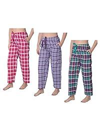 Beverly Rock Women's Cotton Blend Plaid Woven Lounge PantsAvailable in Plus Size