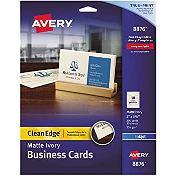 business card labels 8371