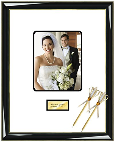 Amazon.com - Personalized Engrave Signature Photo Guest Book Frame ...