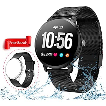 Smart Watch, Fitness Tracker with Heart Rate & Blood Pressure Monitor for Android & iOS, Waterproof Activity Tracker Watch with Sleep & Blood Oxygen Monitor ...