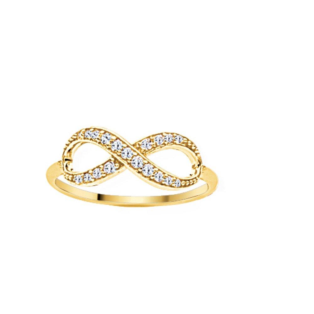 Ss E2W Infinity Ring YLW DiamondJewelryNY Infinity Ring
