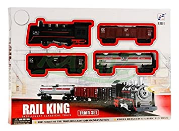 Tren Electrico De Juguete 4 Vagons Rail King Amazon Es Juguetes Y