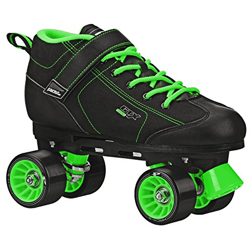 GTX-500 Black and Lime Roller Skates (Mens 11/Ladies 12)
