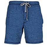 Hanes Men's Knit Sleep Shorts, Medium, Blue