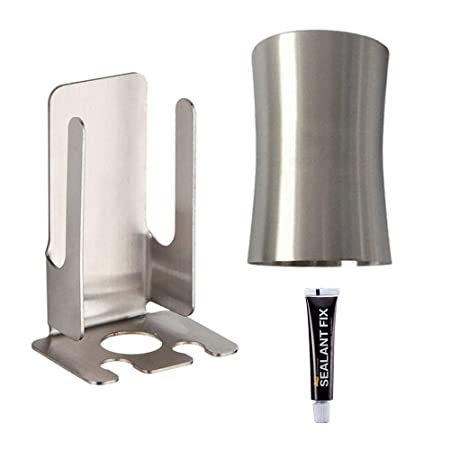 Bathfirst No Drilling Toothpaste Dispenser And Toothbrush Holder Set