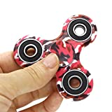 PUNING Fidget Hand Spinner Toy Stress Reducer EDC Focus Toy Relieves ADHD Anxiety Time Killer, C-1 Camouflage Red