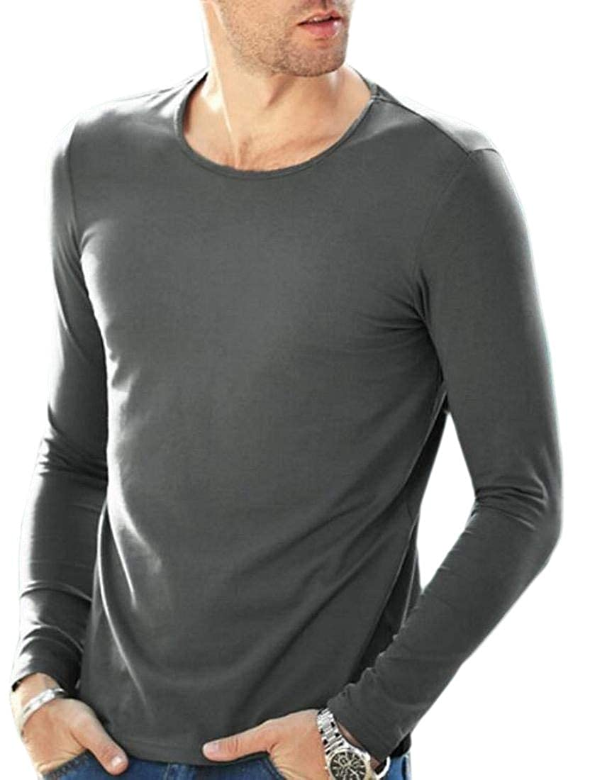 WSPLYSPJY Men Modal Oversize Soft Chic Cozy Leisure Polo Top Tshirt