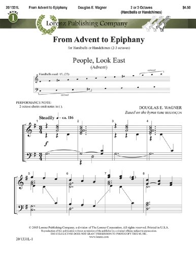 From Advent to Epiphany (Handbell Sheet Music, Handbell 2-3 octaves (or Handchimes 2-3 octaves)) (2 Octave Music Handbell Christmas)
