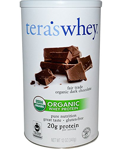 Tera's Whey Organic Protein, Dark Chocolate, 12 oz