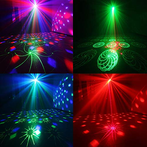 Party Lights + Disco Ball GOOLIGHT Dj Disco Lights LED Stage Light Projector Strobe lights Sound Activated with Remote Control for Xmas Club Bar KTV Holiday Dance Christmas Birthday Home Decoration by GOOLIGHT (Image #1)