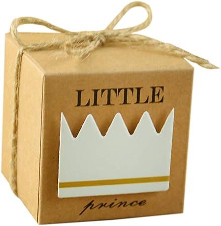 Zedo Cajitas para Regalos Cajitas Regalo Boda Caja de Boda Caja de Caramelos Cajas de Carton Cajas de Carton para Dulces de cumpleaños de bebé 5.3 * 5.3 * 5.3cm,50PC,Príncipe: Amazon.es: Hogar