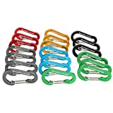 Boundless Voyage Aluminum Carabiner Clip Keychain D-Ring for Small Items and Bottles Backpacking Tools