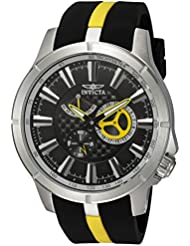 Invicta Men's 'S1 Rally' Quartz Stainless Steel and Polyurethane Casual Watch, Color:Two Tone (Model: 20332)