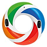 """Intex Inflatable Color Whirl Floating Tube Raft with Handles 47"""" Color May Very #58202"""