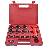 Hollow Punch Set Hole Punch Tool For Leather Plastic Foam Fibre 5-35mm 14pc Set