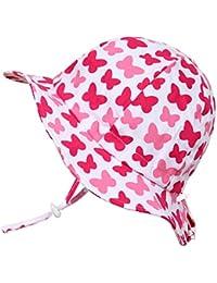 Children's Cotton Sun Protective Hats 50 UPF, Adjustable,...