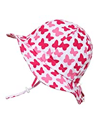 Jan & Jul Kids 50+UPF Cotton Sun-Hat, Adjustable for Growth with Strap, for Baby Toddler Girls