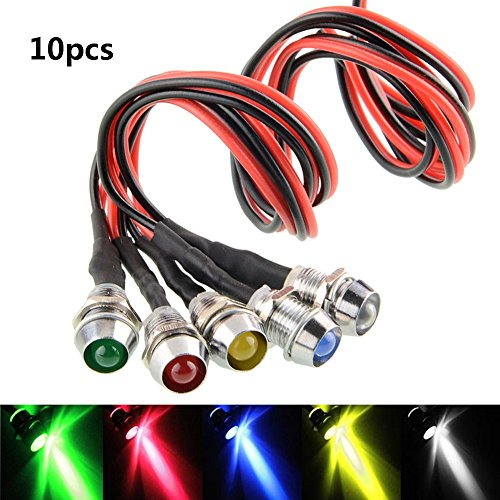 Directional Pc (10 pcs/Lot LED Indicator Light Lamp Pilot Dash Directional Car Truck Boat blue red green yellow white (Tricolor))