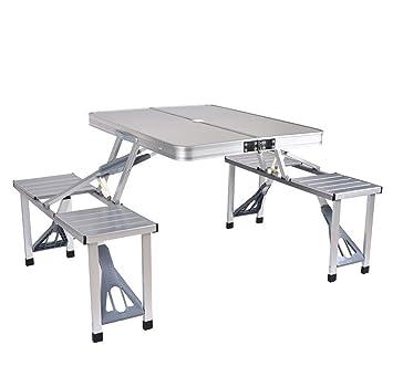 Pique Nique Pliante Table Avec 4 Sièges Table Portable Camping Banc