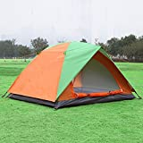 BZ-TANG 3-4 Person Portable Tent for Camping Fishing Hiking Anti UV Beach Tent Beach Shelter (Green,Blue) (GREEN)