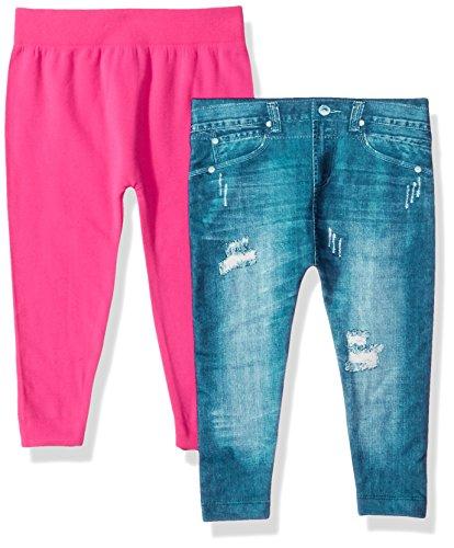 Limited Too Baby Girls' 2 Pack Fleece Legging Pant, Multi E13739MTL2-12, 12-24 Months