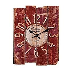 SMC H15 Country Style Vintage Wall Clock Home Decor Wood wall clock (MDF)