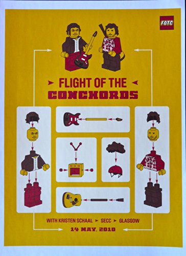 Flight of the Conchords - Live at Slims - Concert Tour Poster - 10