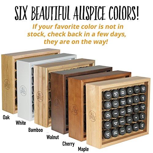 AllSpice Wooden Spice Rack, Includes 30 4oz Jars- Oak by AllSpice (Image #1)