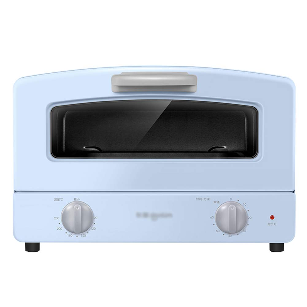 STBD- Bench Top Oven, Compact Oven, Double Quartz Glass Tube Heating, Drawer Type Grilled Net and 1000w Cooking Power, Blue and Pink by Toaster Oven